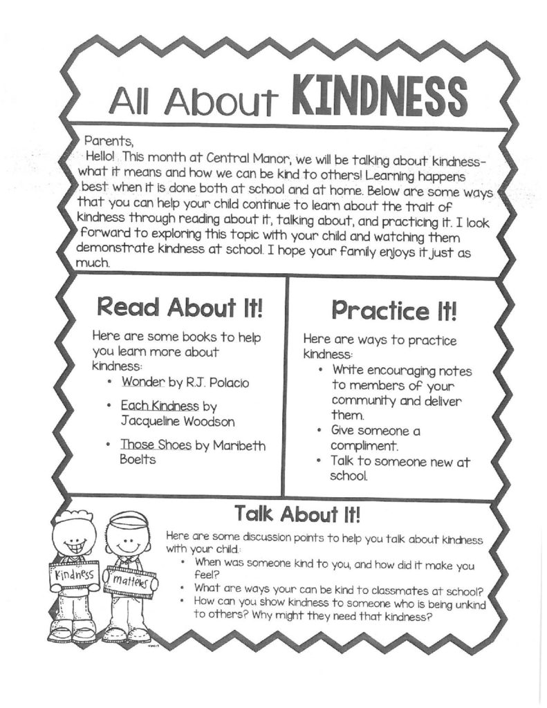 All About Kindness Letter