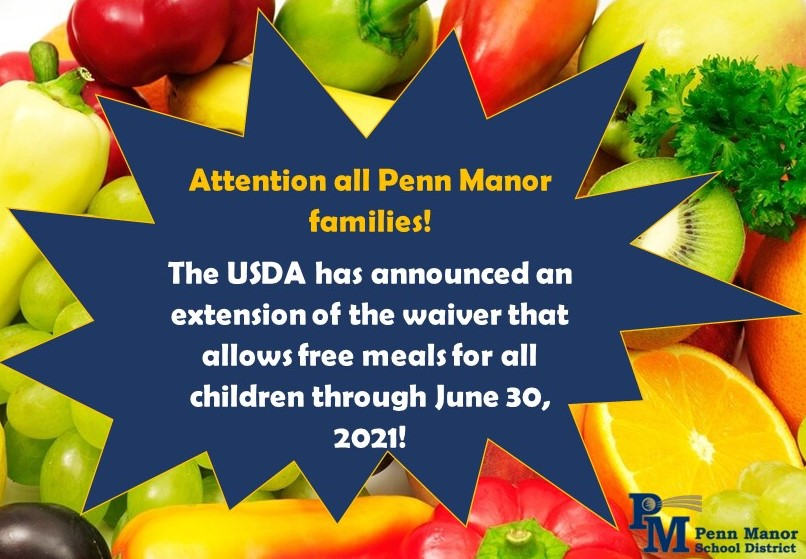 Free Meals Through June 2021