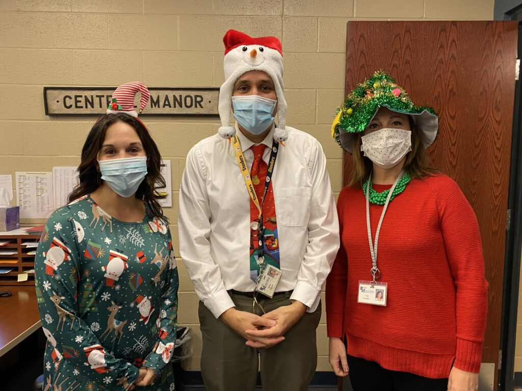 Office Employees with Holiday Hats
